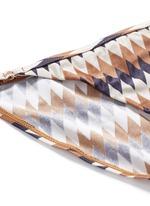 'Harlequin' diamond print triangle bikini set