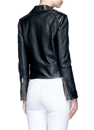 Detail View - Click To Enlarge - Saint Laurent - Belted leather motorcycle jacket