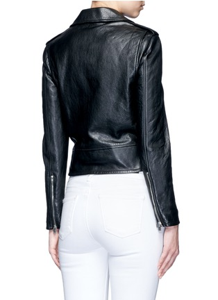 Back View - Click To Enlarge - Saint Laurent - Belted leather motorcycle jacket