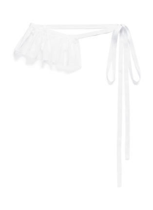 Main View - Click To Enlarge - Ports 1961 - Ruffle cotton poplin belt