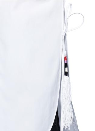 Ports 1961-Tassel side poplin shirt
