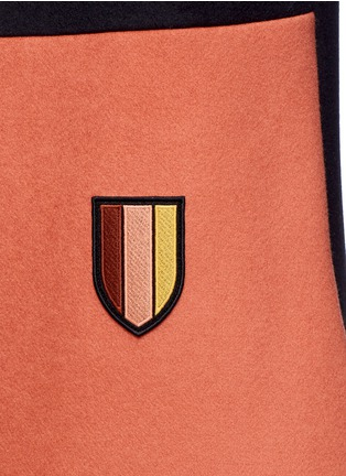 Stella McCartney-Varsity badge colourblock shift dress