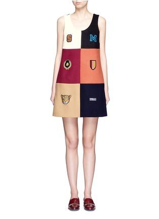 Main View - Click To Enlarge - Stella McCartney - Varsity badge colourblock shift dress