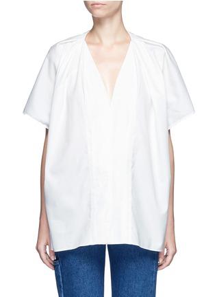 首图 - 点击放大 - BALENCIAGA - 褶裥装饰单色纯棉上衣