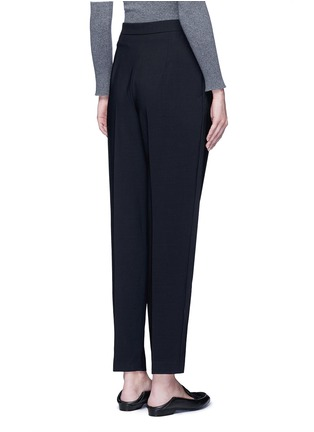 Back View - Click To Enlarge - The Row - 'Sea' high waist pleat leg gabardine pants