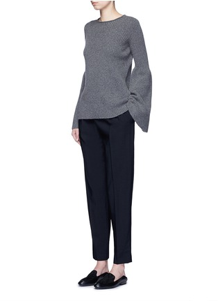 Figure View - Click To Enlarge - The Row - 'Sea' high waist pleat leg gabardine pants