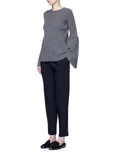 The Row'Sea' high waist pleat leg gabardine pants