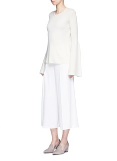 The Row 'Darcy' bell sleeve cashmere-silk sweater