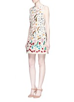 'Lindsey' beaded floral embroidery A-line dress