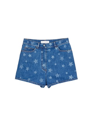 Main View - Click To Enlarge - Valentino - Star print denim shorts