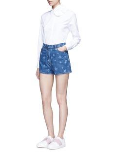ValentinoStar print denim shorts