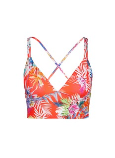 Vitamin A'Vista' tropical leaf strappy back bikini top