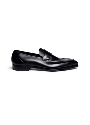 Main View - Click To Enlarge - George Cleverley - 'George' leather penny loafers