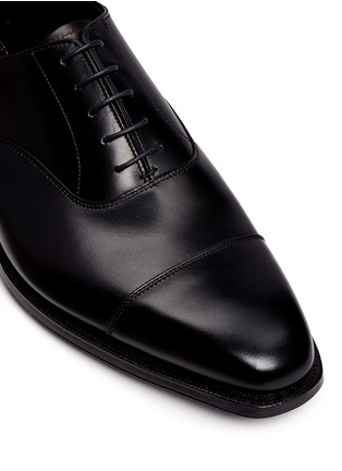 Detail View - Click To Enlarge - George Cleverley - 'Michael' leather Oxfords