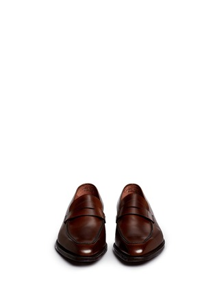 Front View - Click To Enlarge - George Cleverley - 'George' leather penny loafers