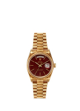 Main View - Click To Enlarge - Lane Crawford Vintage Collection - Vintage Rolex 18078 Day Date 18k yellow gold Oyster Perpetual watch