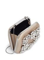 'Hangi' Swarovski crystal pearl satin box clutch