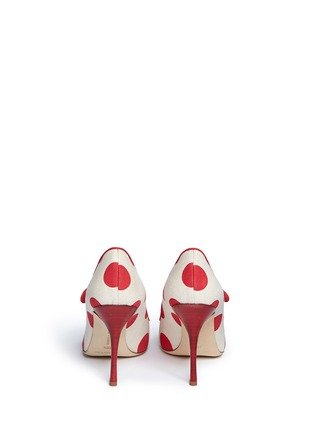 Back View - Click To Enlarge - Manolo Blahnik - 'Campari' dot print canvas Mary Jane pumps