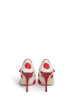 Manolo Blahnik-'Campari' dot print canvas Mary Jane pumps