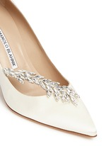 'Nadira' crystal jewel satin pumps