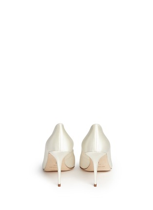 Back View - Click To Enlarge - Manolo Blahnik - 'Nadira' crystal jewel satin pumps