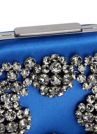 Detail View - Click To Enlarge - Manolo Blahnik - 'Hangi' Swarovski crystal satin box clutch