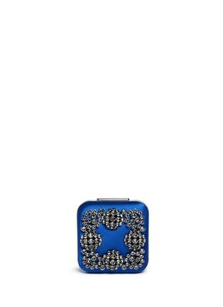 Main View - Click To Enlarge - Manolo Blahnik - 'Hangi' Swarovski crystal satin box clutch