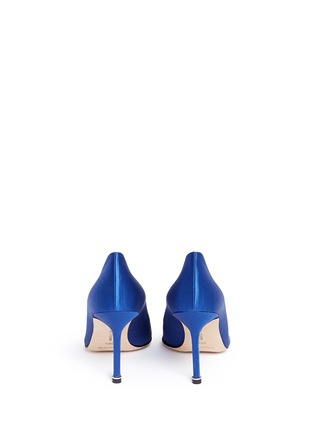 Back View - Click To Enlarge - Manolo Blahnik - 'Hangisi' crystal brooch satin pumps