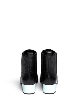 Back View - Click To Enlarge - 3.1 Phillip Lim - 'Newton' contrast heel leather Chelsea boots