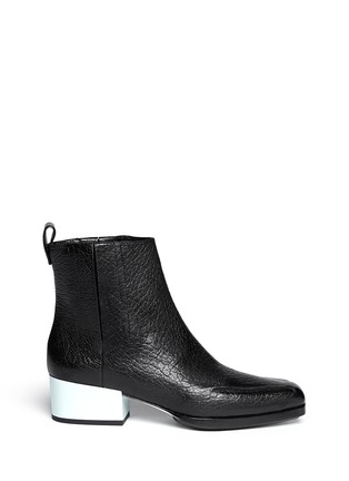 Main View - Click To Enlarge - 3.1 Phillip Lim - 'Newton' contrast heel leather Chelsea boots
