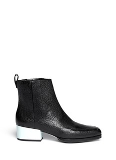 3.1 PHILLIP LIM 'Newton' contrast heel leather Chelsea boots
