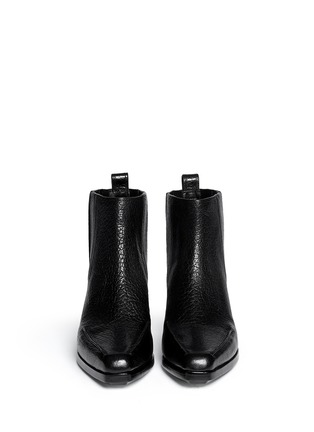 Figure View - Click To Enlarge - 3.1 Phillip Lim - 'Newton' contrast heel leather Chelsea boots