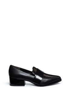 3.1 PHILLIP LIM 'Quinn' iridescent vamp leather loafers