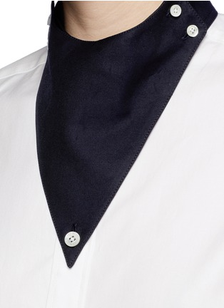 Detail View - Click To Enlarge - Hyke - Triangle collar cotton shirt