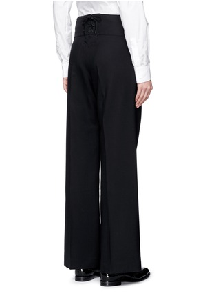 Back View - Click To Enlarge - Hyke - Foldover front wide leg pants