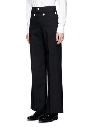 Front View - Click To Enlarge - Hyke - Foldover front wide leg pants