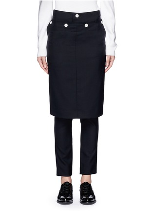 Popular Sarah Pacini Wool Skirt Overlay Pants  Clothing
