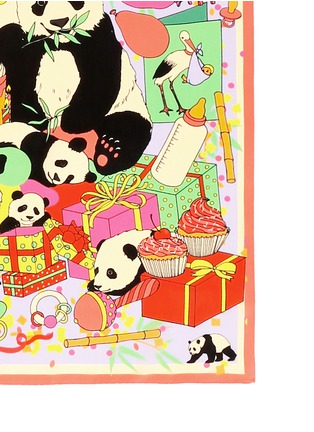 Detail View - Click To Enlarge - Karen Mabon - 'Panda Baby Shower' print silk scarf