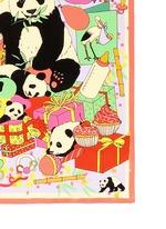 'Panda Baby Shower' print silk scarf