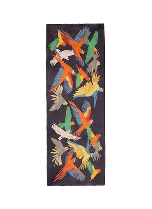 Main View - Click To Enlarge - Karen Mabon - 'Birds of Paradise' print silk scarf