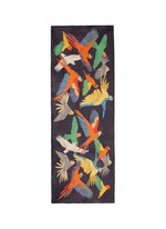 'Birds of Paradise' print silk scarf