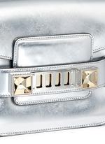 'PS11 Small Classic' metallic leather satchel