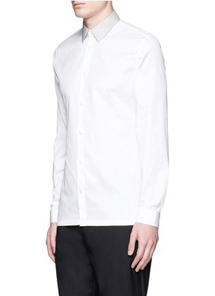 Front View - Click To Enlarge - Balenciaga - Contrast collar cotton poplin shirt