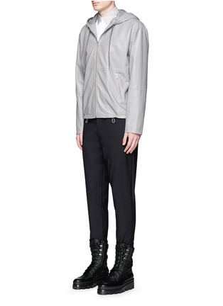 Figure View - Click To Enlarge - Balenciaga - Contrast collar cotton poplin shirt