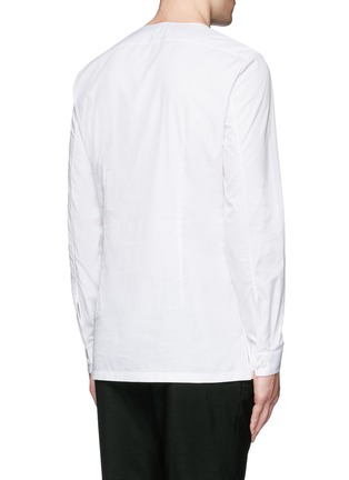 Balenciaga - Collarless cotton poplin shirt