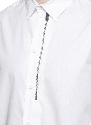 Detail View - Click To Enlarge - Balenciaga - Detachable sleeve cotton poplin shirt