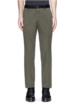 Main View - Click To Enlarge - Balenciaga - Side stripe washed cotton pants