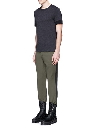 Figure View - Click To Enlarge - Balenciaga - Side stripe washed cotton pants