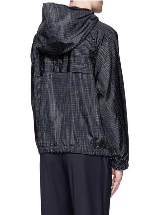 Back View - Click To Enlarge - Balenciaga - Grid print windbreaker jacket