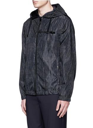 Front View - Click To Enlarge - Balenciaga - Grid print windbreaker jacket